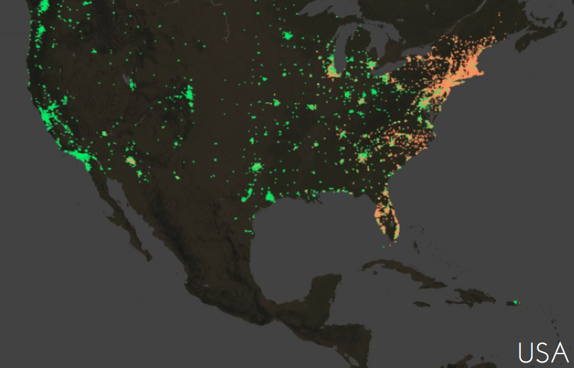 dunkin donuts vs starbucks locations in the united states