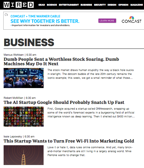 SocialSign.in in the business section of WIRED.com on July 11, 2014.