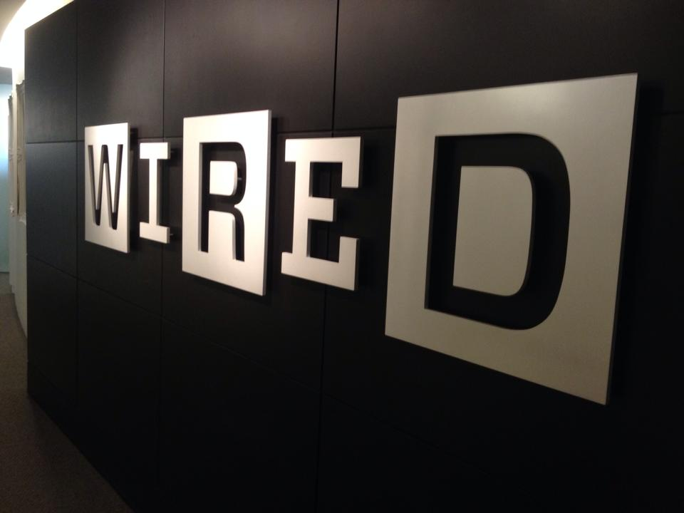 The Wired NYC office lobby