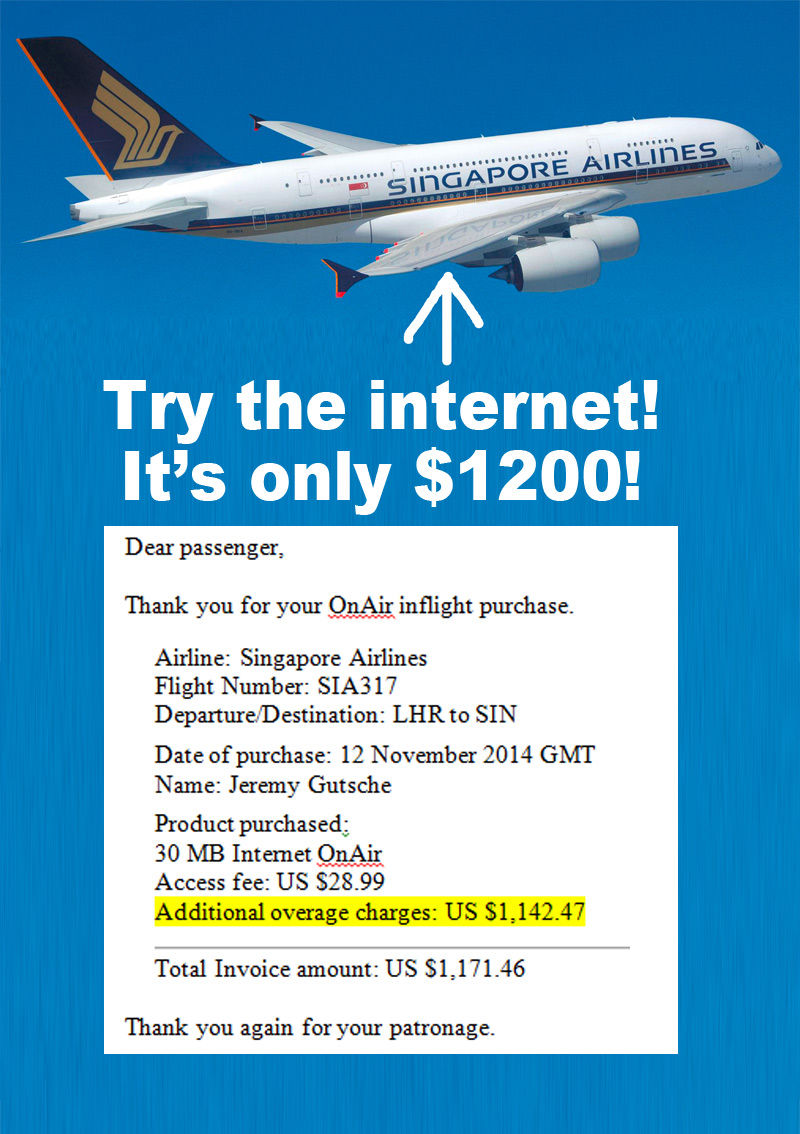 Singapore Airlines 1200 WiFi