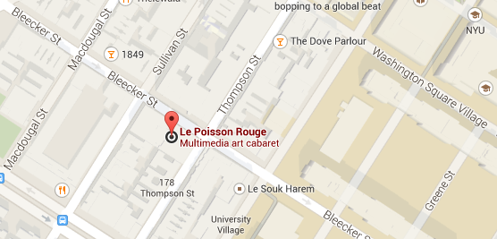 Google Map Le Poisson Rouge Directions
