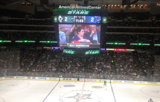 Dallas Stars Seat Downgrade